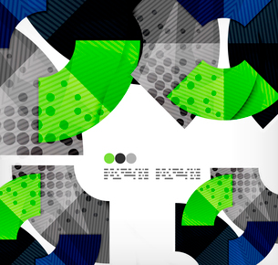 Modern futuristic techno abstract composition, overlapping shapesのイラスト素材 [FYI03098364]