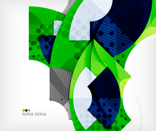 Modern futuristic techno abstract composition, overlapping shapesのイラスト素材 [FYI03098365]