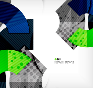 Modern futuristic techno abstract composition, overlapping shapesのイラスト素材 [FYI03098366]