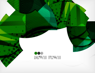 Modern futuristic techno abstract composition, overlapping shapesのイラスト素材 [FYI03098367]