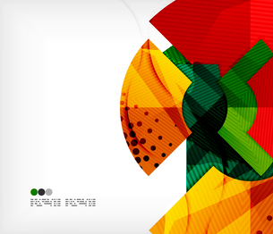 Modern futuristic techno abstract composition, overlapping shapesのイラスト素材 [FYI03098369]