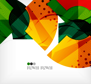 Modern futuristic techno abstract composition, overlapping shapesのイラスト素材 [FYI03098371]