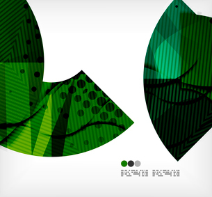 Modern futuristic techno abstract composition, overlapping shapesのイラスト素材 [FYI03098372]