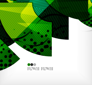 Modern futuristic techno abstract composition, overlapping shapesのイラスト素材 [FYI03098373]