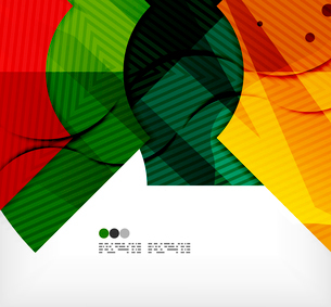 Modern futuristic techno abstract composition, overlapping shapesのイラスト素材 [FYI03098377]
