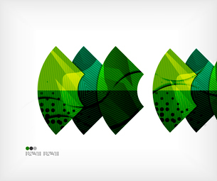 Modern futuristic techno abstract composition, overlapping shapesのイラスト素材 [FYI03098381]