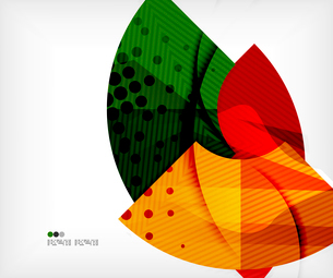 Modern futuristic techno abstract composition, overlapping shapesのイラスト素材 [FYI03098384]