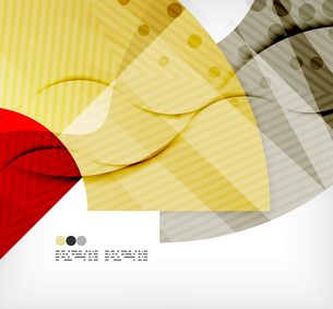 Modern futuristic techno abstract composition, overlapping shapesのイラスト素材 [FYI03098385]