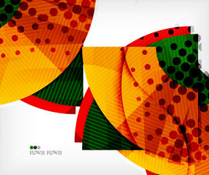 Modern futuristic techno abstract composition, overlapping shapesのイラスト素材 [FYI03098386]
