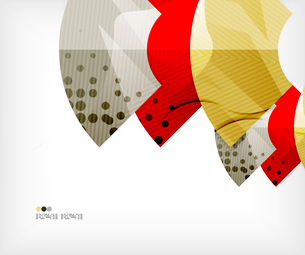 Modern futuristic techno abstract composition, overlapping shapesのイラスト素材 [FYI03098387]