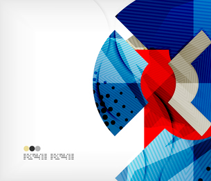 Modern futuristic techno abstract composition, overlapping shapesのイラスト素材 [FYI03098388]