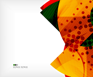 Modern futuristic techno abstract composition, overlapping shapesのイラスト素材 [FYI03098389]