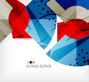 Modern futuristic techno abstract composition, overlapping shapesのイラスト素材 [FYI03098391]