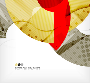 Modern futuristic techno abstract composition, overlapping shapesのイラスト素材 [FYI03098392]