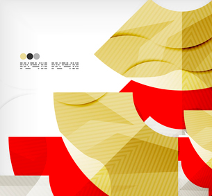 Modern futuristic techno abstract composition, overlapping shapesのイラスト素材 [FYI03098394]