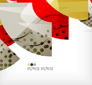 Modern futuristic techno abstract composition, overlapping shapesのイラスト素材 [FYI03098396]