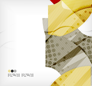 Modern futuristic techno abstract composition, overlapping shapesのイラスト素材 [FYI03098397]