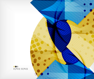 Modern futuristic techno abstract composition, overlapping shapesのイラスト素材 [FYI03098400]