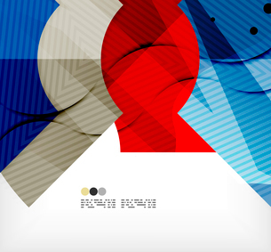 Modern futuristic techno abstract composition, overlapping shapesのイラスト素材 [FYI03098401]