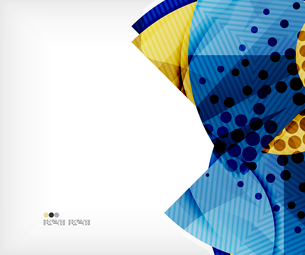 Modern futuristic techno abstract composition, overlapping shapesのイラスト素材 [FYI03098402]