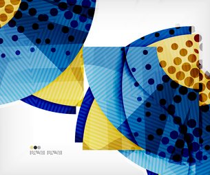 Modern futuristic techno abstract composition, overlapping shapesのイラスト素材 [FYI03098403]