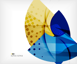 Modern futuristic techno abstract composition, overlapping shapesのイラスト素材 [FYI03098404]