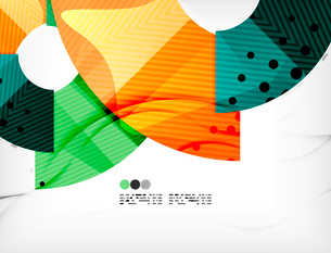 Modern futuristic techno abstract composition, overlapping shapesのイラスト素材 [FYI03098405]
