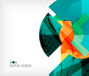 Modern futuristic techno abstract composition, overlapping shapesのイラスト素材 [FYI03098406]