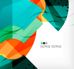 Modern futuristic techno abstract composition, overlapping shapesのイラスト素材 [FYI03098407]