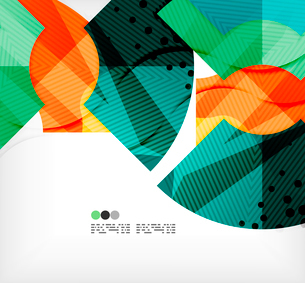 Modern futuristic techno abstract composition, overlapping shapesのイラスト素材 [FYI03098408]