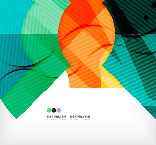 Modern futuristic techno abstract composition, overlapping shapesのイラスト素材 [FYI03098410]