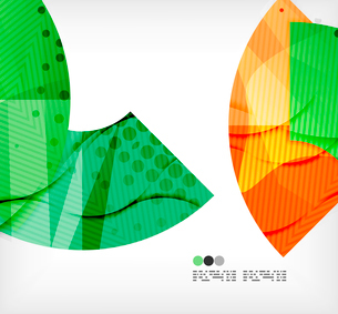 Modern futuristic techno abstract composition, overlapping shapesのイラスト素材 [FYI03098412]