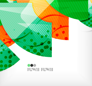 Modern futuristic techno abstract composition, overlapping shapesのイラスト素材 [FYI03098413]