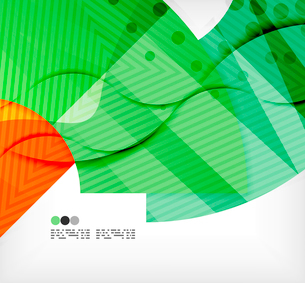 Modern futuristic techno abstract composition, overlapping shapesのイラスト素材 [FYI03098415]