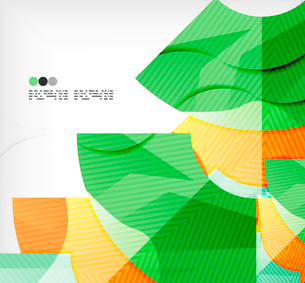 Modern futuristic techno abstract composition, overlapping shapesのイラスト素材 [FYI03098416]