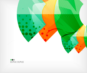 Modern futuristic techno abstract composition, overlapping shapesのイラスト素材 [FYI03098418]