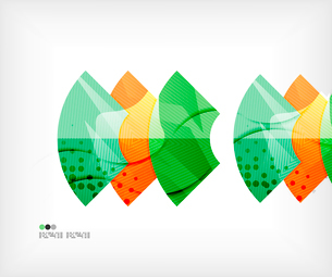 Modern futuristic techno abstract composition, overlapping shapesのイラスト素材 [FYI03098419]