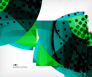 Modern futuristic techno abstract composition, overlapping shapesのイラスト素材 [FYI03098420]