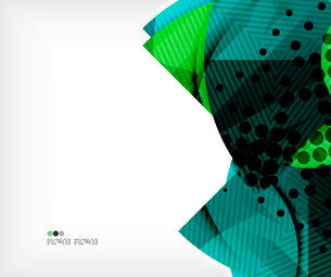 Modern futuristic techno abstract composition, overlapping shapesのイラスト素材 [FYI03098423]