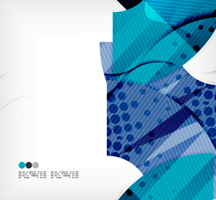 Modern futuristic techno abstract composition, overlapping shapesのイラスト素材 [FYI03098424]