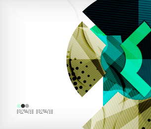 Modern futuristic techno abstract composition, overlapping shapesのイラスト素材 [FYI03098425]