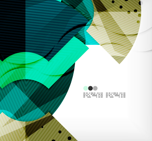 Modern futuristic techno abstract composition, overlapping shapesのイラスト素材 [FYI03098426]