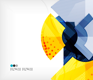Modern futuristic techno abstract composition, overlapping shapesのイラスト素材 [FYI03098427]