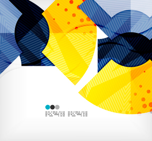 Modern futuristic techno abstract composition, overlapping shapesのイラスト素材 [FYI03098428]