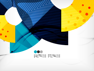 Modern futuristic techno abstract composition, overlapping shapesのイラスト素材 [FYI03098429]