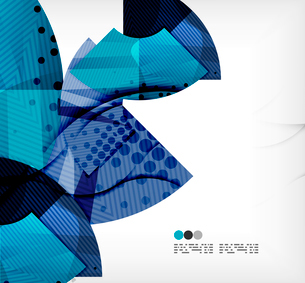 Modern futuristic techno abstract composition, overlapping shapesのイラスト素材 [FYI03098431]