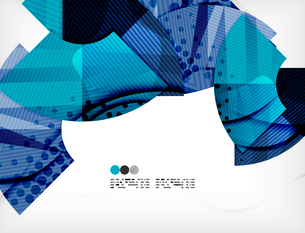 Modern futuristic techno abstract composition, overlapping shapesのイラスト素材 [FYI03098432]