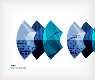 Modern futuristic techno abstract composition, overlapping shapesのイラスト素材 [FYI03098433]