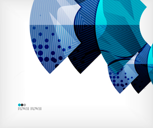 Modern futuristic techno abstract composition, overlapping shapesのイラスト素材 [FYI03098434]