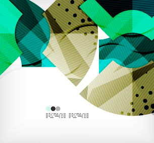 Modern futuristic techno abstract composition, overlapping shapesのイラスト素材 [FYI03098435]